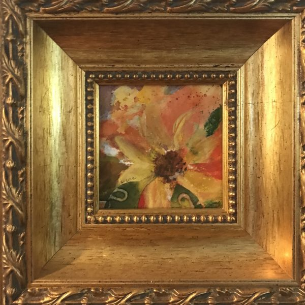framed floral watercolor painting