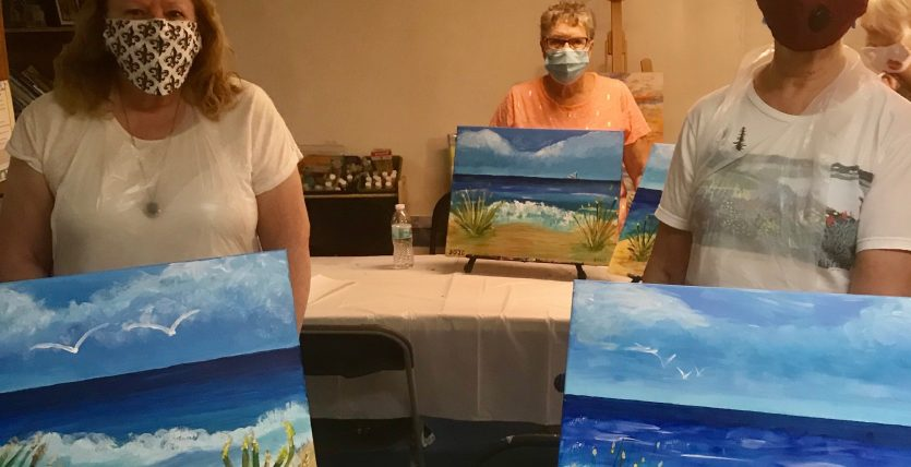 socially distant safe painting party