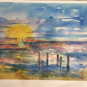 Sailing Into the Sunset giclee print